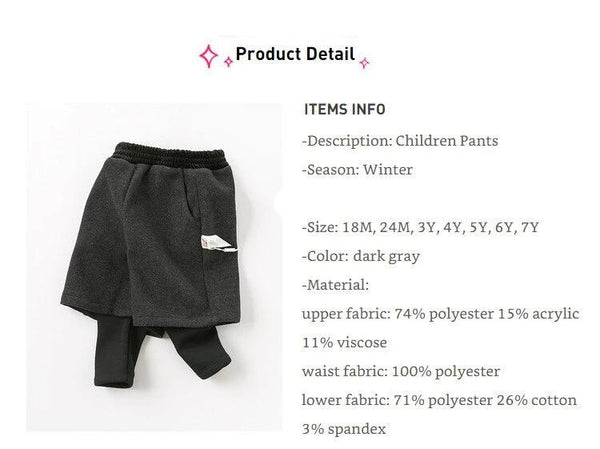 Winter baby girls solid pockets pants children full length kids pants infant toddler trousers