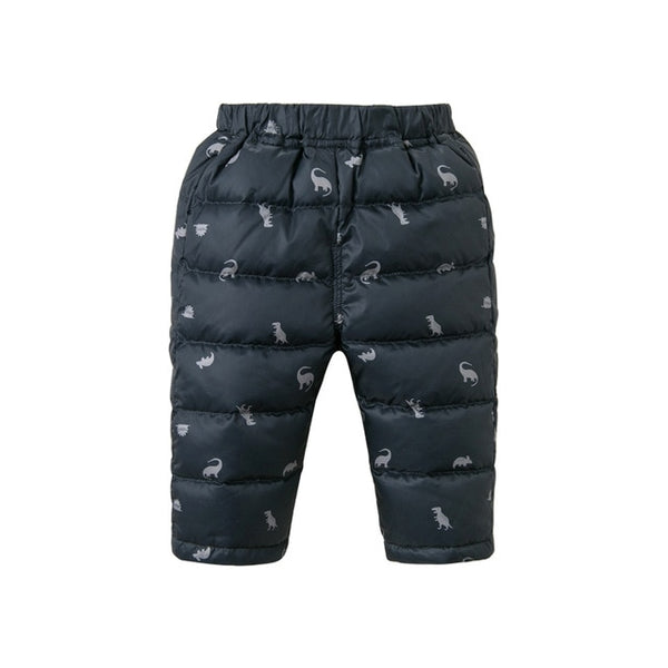 Winter unisex down pants baby print padded trousers children high quality down trousers