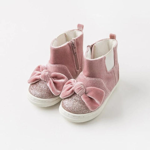 Autumn winter baby girl boots fashion shoes pink fashion bow boots baby girl shoes