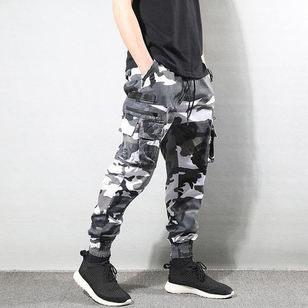 Streetwear Men Jeans High Quality Camouflage Military Trousers Cargo Pants Men Multi Pockets Hip Hop Joggers Pants Homme