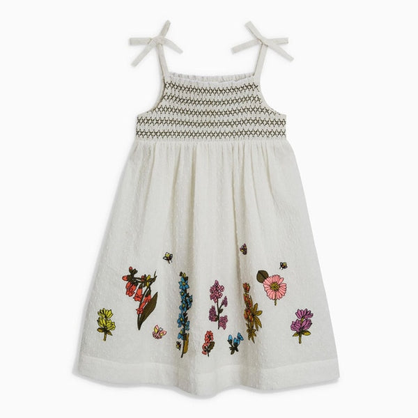 New summer baby girls brand dress kids cotton animal star flower print striped sleeveless sundress