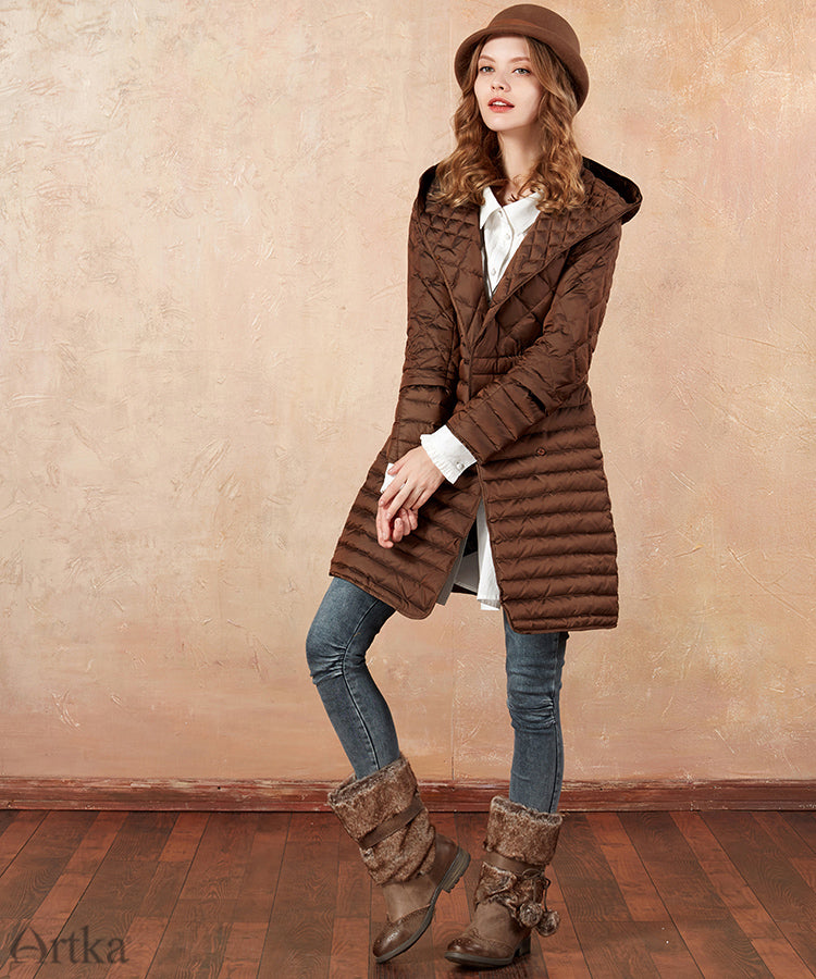 Autumn&Winter Three-Way Wearing White Duck Women Down Coat Long Jacket