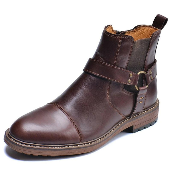 NEW men's Martins boots Genuine Leather Men's autumn and winter handmade High-top boots lager size men's Chelsea boots