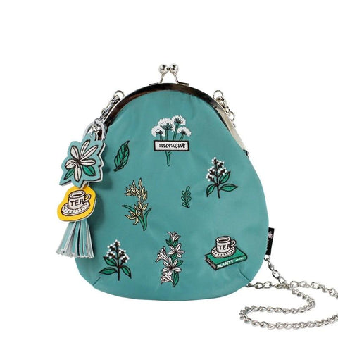Flower Princess  Embroidery Chain Crossbody Bag Original Designer Women Shoulder Bags Nylon Lady  Bag Metal Clip Small Handbag