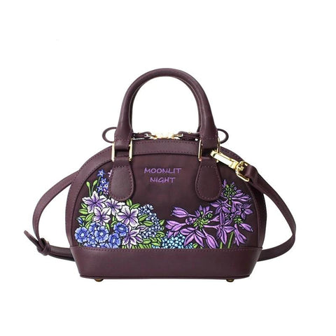 Flower Princess Vintage top-handle bags bolsas Leather luxury handbags women bags Ladies designer nylon female crossbody bag sac