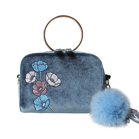 Flower Princess Velour Female Bag Hair Ball Ornaments Messenger Bag Women Luxury Handbags Women Bags Designer Shoulder Bag Women
