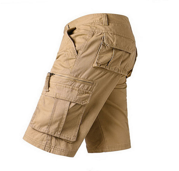 Men summer cotton shorts loose big size casual safari military army khaki multi pockets tactical shorts for men streetwear