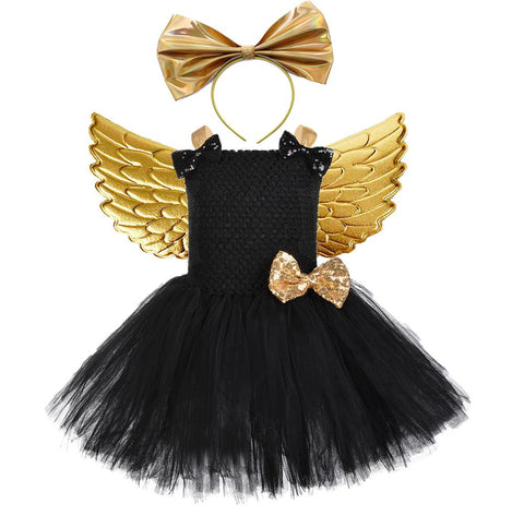 Halloween lol Costume For Kids Girls Black Unicorn Birthday Party Tutu Dress Children Carnival Novel Outfit Clothes