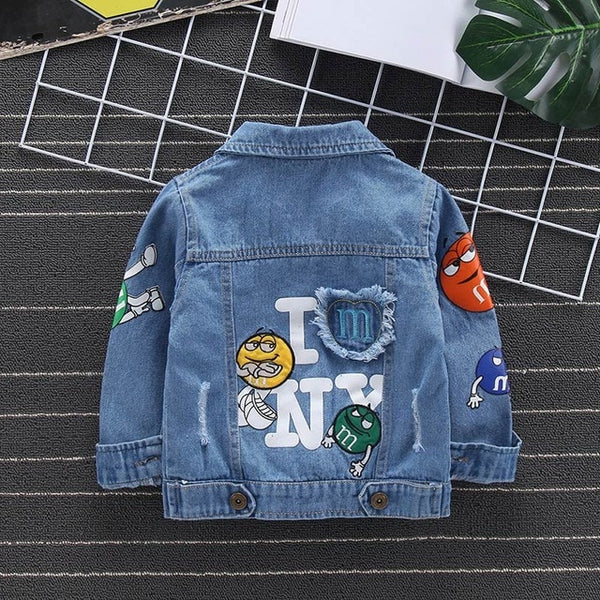 Baby Boys Garfield Denim Jacket Spring Autumn Jackets Kids Cartoon Outerwear Coats For Boys Clothes Children Jacket 2-7 Yrs