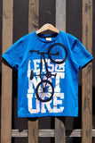 Casual Boy O-neck Short Sleeve T-Shirt Boys Fashion Letter Pattern Tops Kids Comfort Loose Tee Blue Summer-