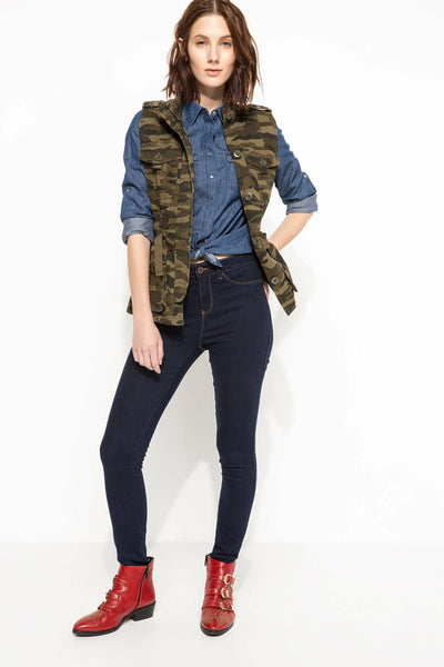 Women Camouflage Vest Female Casual Lace-up Military Sleeveless Coat High Quality Joker