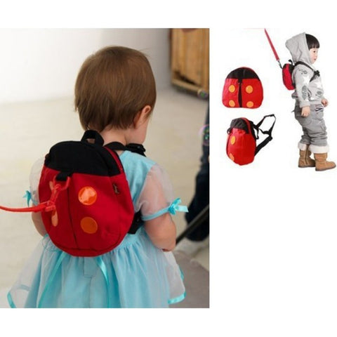 Kid Baby Keeper Safety Harness Toddler Walking Safety Harness Anti-lost Backpack Leash Bag Strap Rein Bat Ladybug Bag