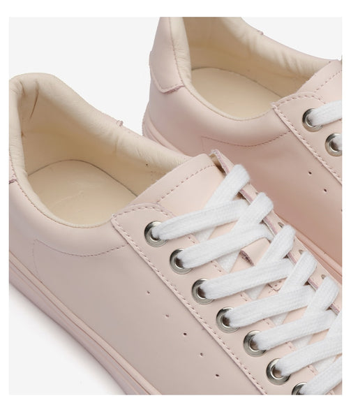 Sneakers Women Flats Shoes Lace-up Genuine Leather Casual Vulcanize Ladies Shoes