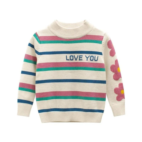 Spring&Autumn Casual Boys Girls Sweater Long Sleeve Cute Letter Printed Pullovers Children's Clothing Kids Knit Wear