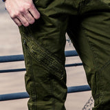 Design Casual Military Style Tactical Pant Working Trousers Cotton Knee Zipper Long Pants Men Trouser Army Cargo Pants Male