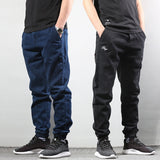 Style Men's Jogger Jeans Black Blue Color Streetwear Punk Pants Hip Hop Jeans Men Slim Fit Cargo Pants Homme