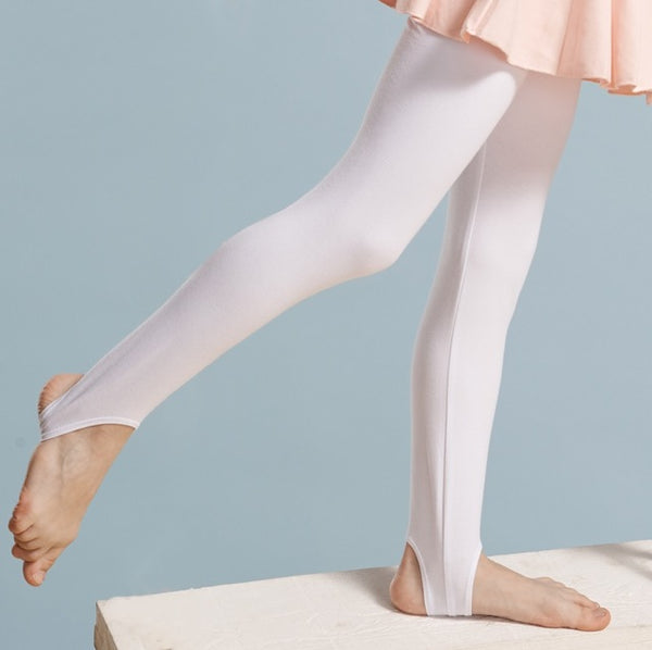 Cotton and Spandex Ballet Tights Ballet Stockings for Girls Kids Children High Quality Dance Gymnastics Stretch Stirrup Tights