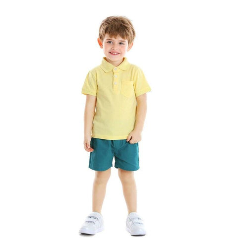 Kids Baby Boys Pullover Shirt+Shorts Clothes Set Casual Outfits Children Clothing Set