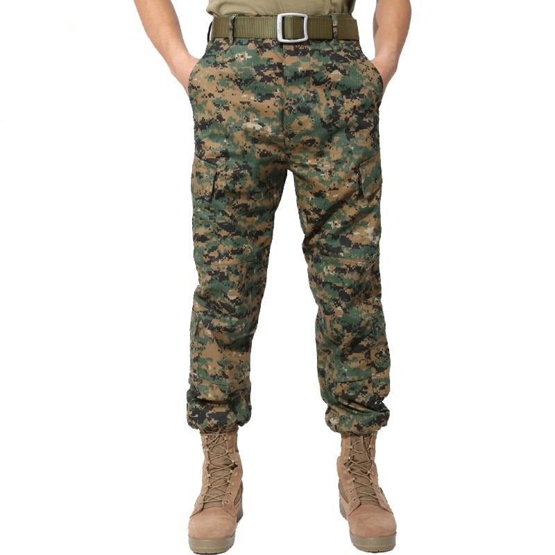 Military Camouflage Cargo Tactical Pants Men Overalls Work Pants Combat Hunter Baggy Trouser Workwear Black Jungle Python Pants