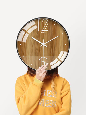 Large Wall Clock 3d Silent Living Room Nordic Modern Bedroom Big Clocks Wall Home Decor Creative Klok Wood Pattern Watch