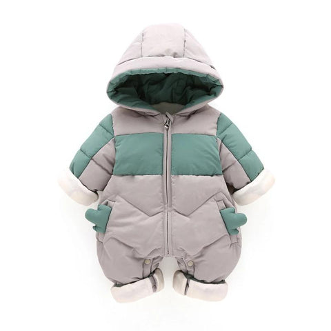 Baby Boy Winter Clothes  Baby Jumpsuit Hooded Newborn Baby Boy Girl Romper Kid Autumn Overalls Toddler Outerwear