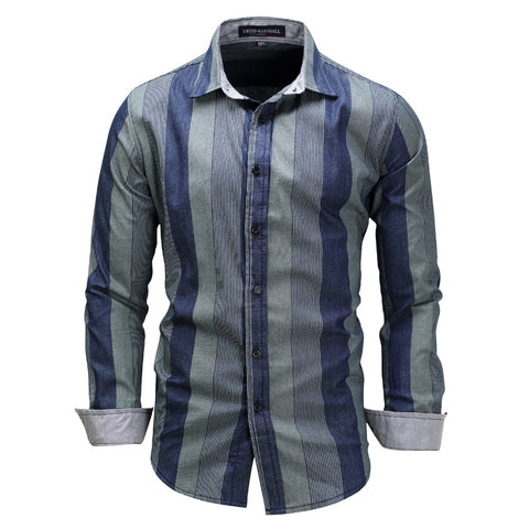 Men's Plaid Shirt Slim Fit Soft Spring Male Shirt Brand Men's Business Casual Long-sleeved Shirts Plus Size
