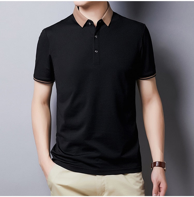 New Solid Polos Shirt Men Summer Short-sleeve Tee shirt Homme Cotton Fashion Casual Camisa Polo Mens Clothing