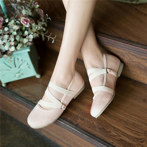 Female Narrow Bands Slip-on Flats Shoes Girls Comfort Shoes Woman Shallow Career Shoes Women Flat Heels Shoe