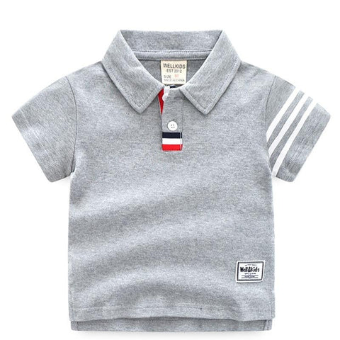 Baby Casual T-Shirt Summer New Boy Children'S Clothing Children'S Lapel Short Sleeve Boys Clothes Kids T Shirt