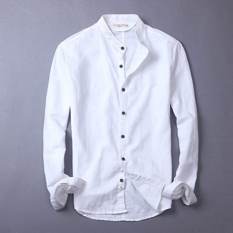 New long-sleeved shirt men solid casual men shirts brand shirt mens summer spring shirts male cotton