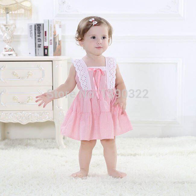 Baby Girls Dress Beautiful Dress For Girl Summer Cotton Kids Dresses Fashion Children's Clothing Pink & Blue Tutu Dresses 6-32 M
