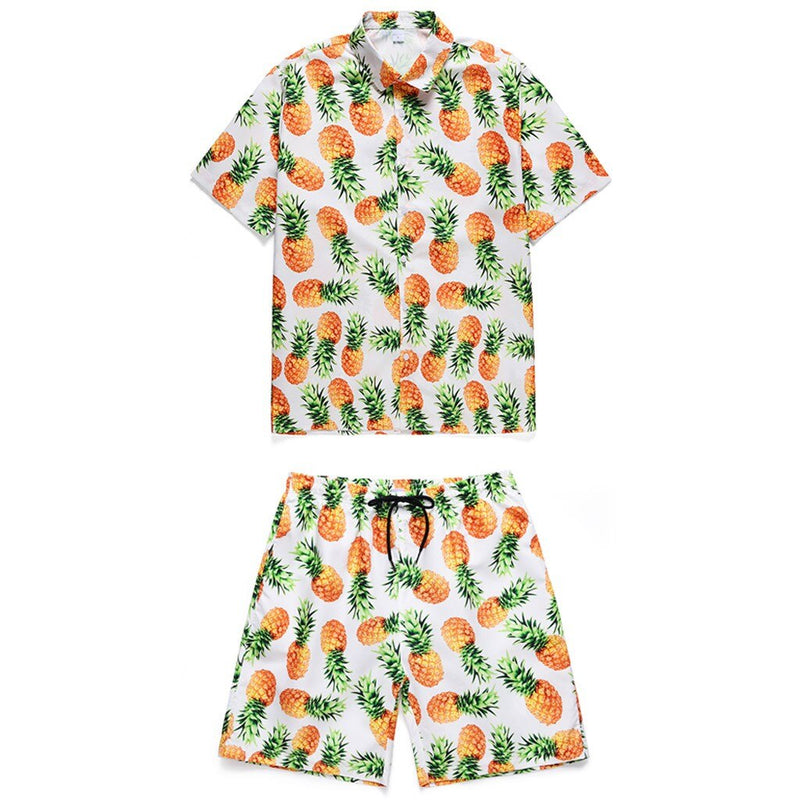 Men Tourism Summer Floral Print Short Pants Overalls Holiday Hawaiian One Piece Overalls Men's Set Short Outfit Mens Clothing