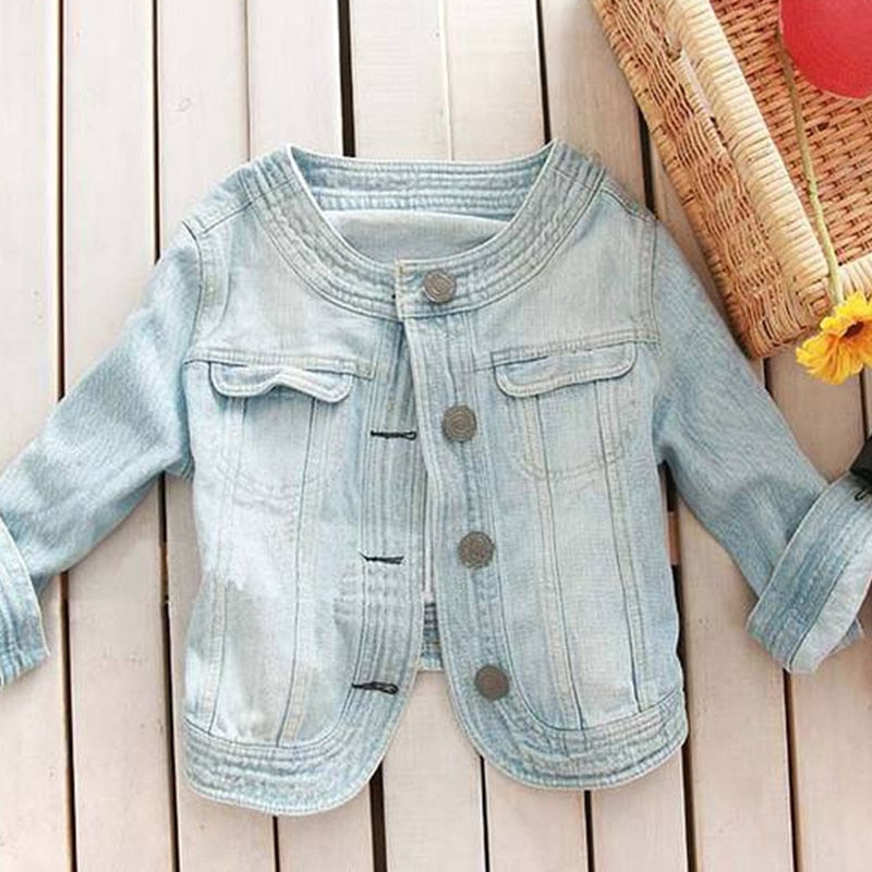 Women Casual Round O Neck Half Sleeve Slim Cardigan Denim Coat Shawl Bolero Female Spring Summer Thin Short Jeans Jackets Tops