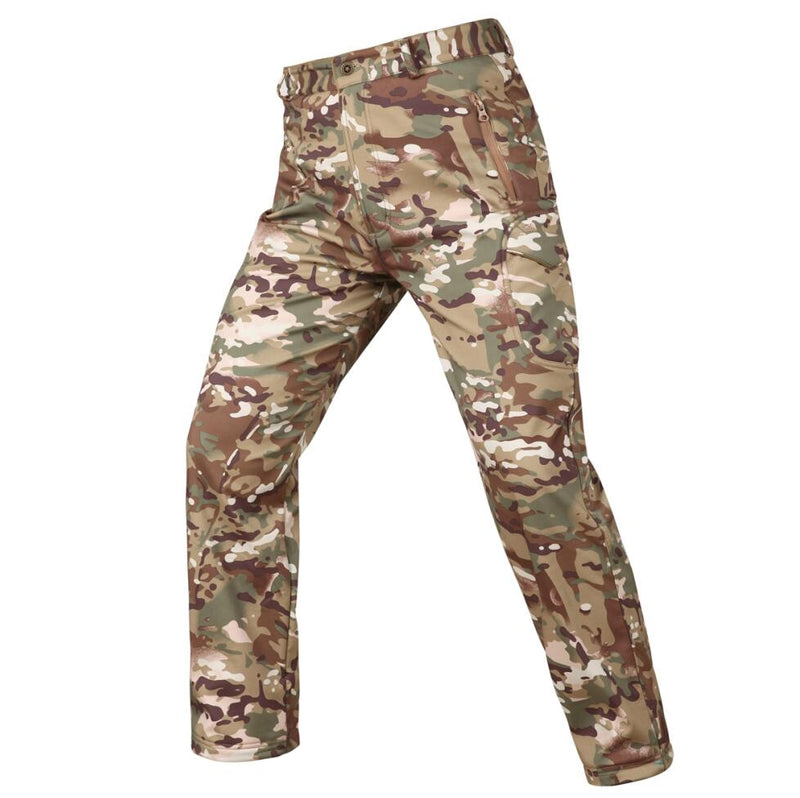 Tactical Military Camouflage Pants Men Winter Army Waterproof Warm Fleece Camo Hunting Warm Trousers S-3XL