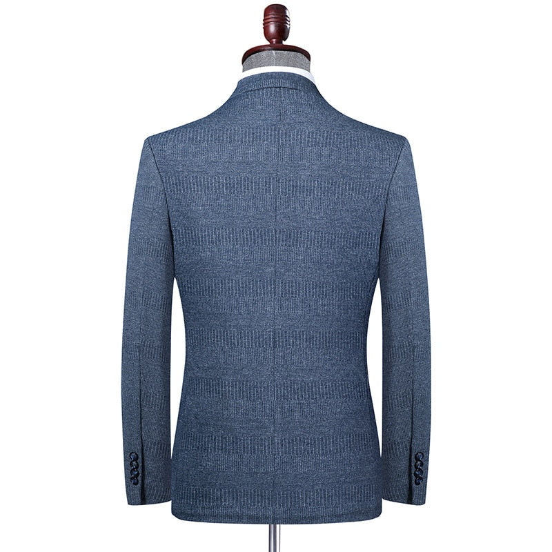 brand men Blazer coats classic retro men v-neck suit  high quality casual slim Blazers male coat