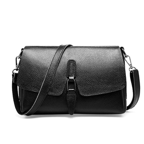 Luxury Women Shoulder Bag Made Of Genuine Leather Daily Casual Crossbody Bags High Quality Small Flap Black Grey Handbag