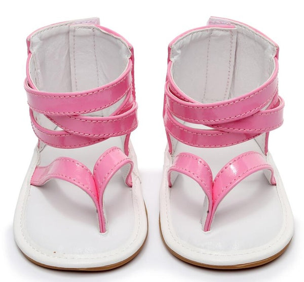 Baby Sandals Summer Crib Moccasins Shoes Anti-slip Hard Sole Flip Flop Infant Baby Shoes 0-24 M