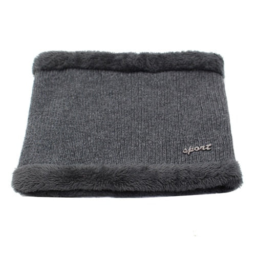 Winter Men Scarf Ring Knitted Scarves For Men Women Neck Snood Warp Thickened Wool Collar Warm Soft Scarves