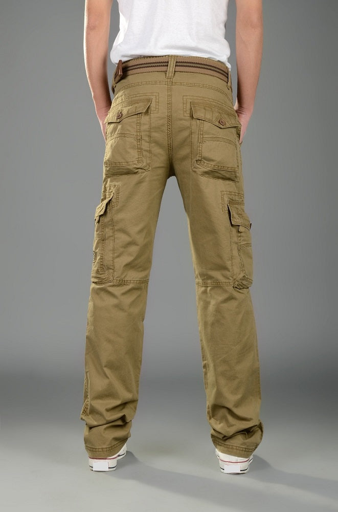 Mens Cargo Pants Casual Mens Pant  Baggy Regular Cotton Trousers Male Combat  Military Tactical Pants with Multi Pockets