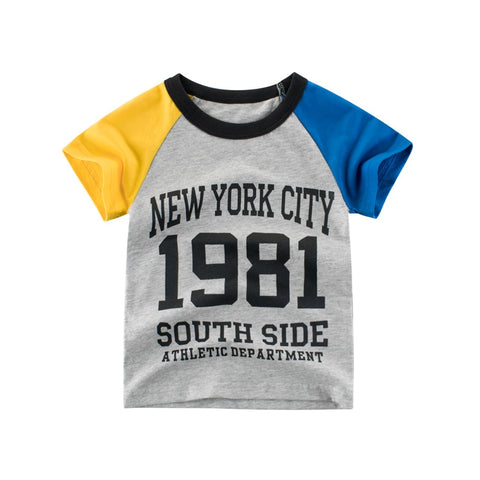 Children's Clothing New Summer Children's Short-sleeved T-shirts Version Baby Clothes New York City T-Shirts
