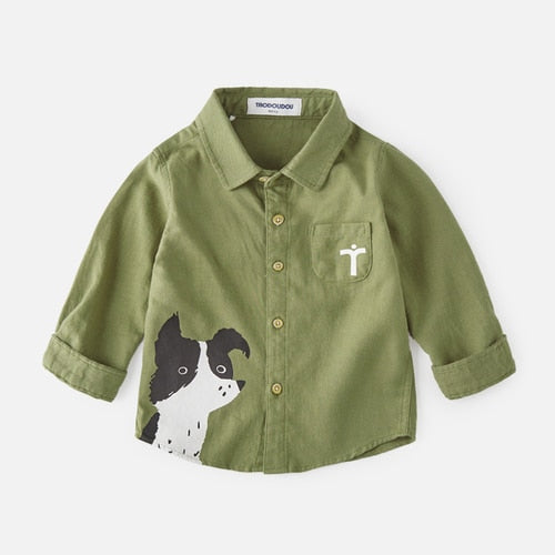Boys Shirt Autumn Long Sleeve Cotton Children's Clothing New Children's Spring  Autumn Baby Shirt  Fashion Blouses 2-6T