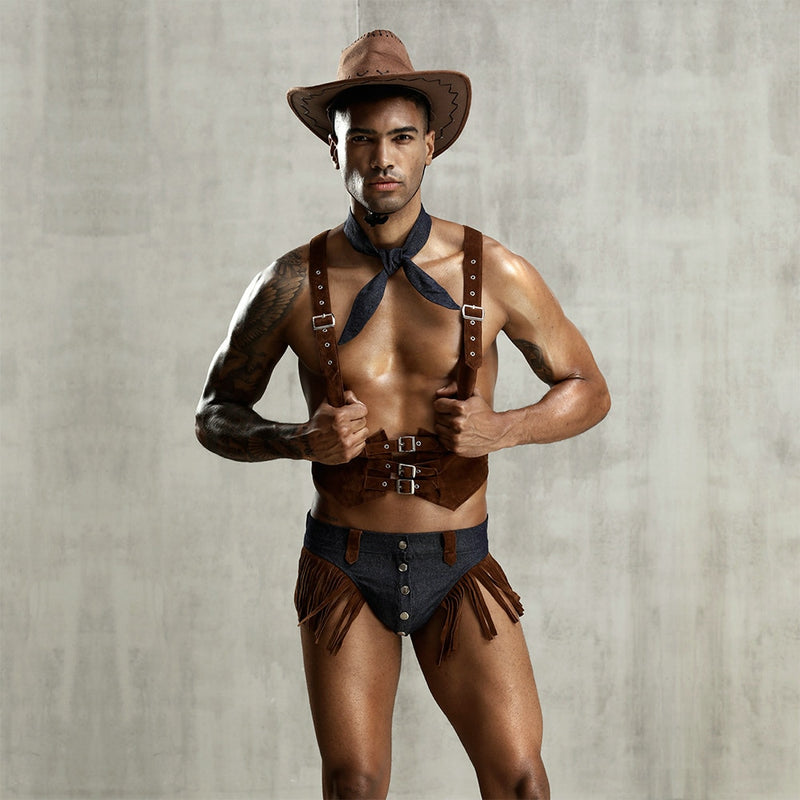 New arrival man exotic costume cowboy sets costume for men