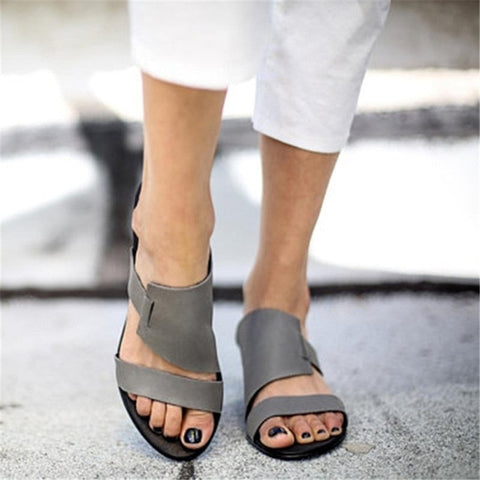 New explosions women sandals solid colors summer shoes simple casual shoes woman flat shoe