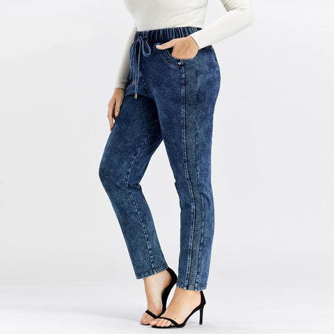 Women's Plus Size Casual Jeans  high flexibility