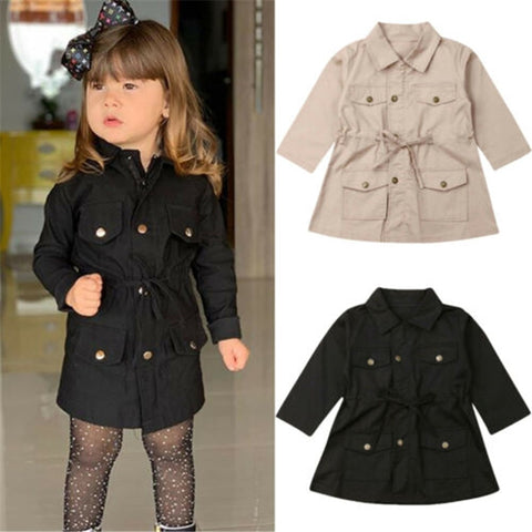Infant Baby Girls Boys Kids Jacket Coat Solid Single Breasted Jacket Autumn Winter Warm Children Tops 2-7Y