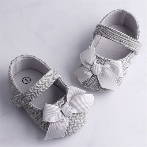 Infant Baby Girl Shoes Bowknot Anti-Slip Soft Sole Hook First Walkers Toddler Infant Baby Girl Kids Shoes 0-18M 3 Color