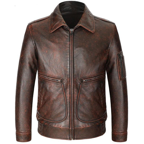 new arrival spring natural cow leather jackets men,real leather jackets,plus-size