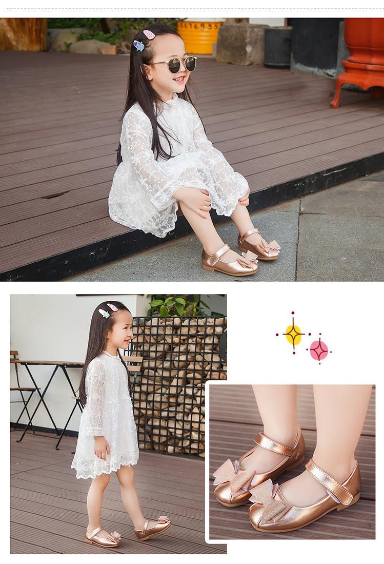 Girls Princess Shoes Kid's Ballet Flats Flower Dress Shoes for Girl Childrens Uniform Mary Jane Shoes Leather Spring/Summer