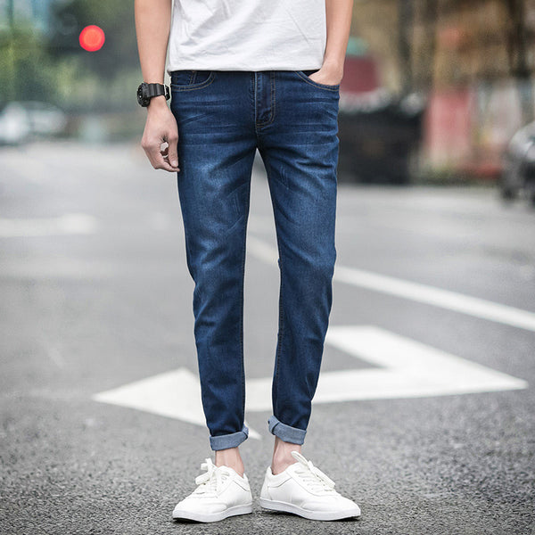 NEW denim  jeans for men skinny Distressed slim designer biker hip hop  jeans male Straight solid classic