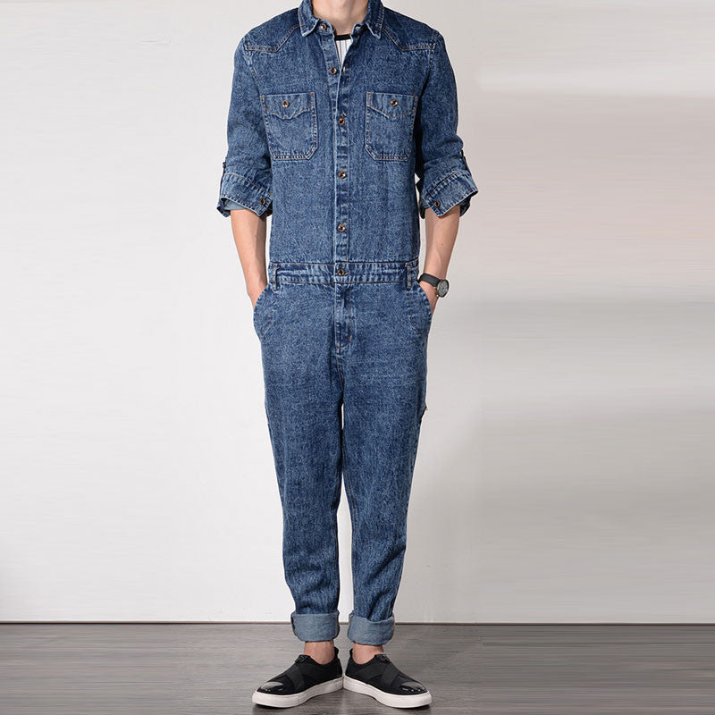 pretty cool best loved real quality Work overalls mens cowboy strap overalls Hot Sale Cowboy Coveralls Clothing  long sleeveless bib coveralls jumpsuits trousers